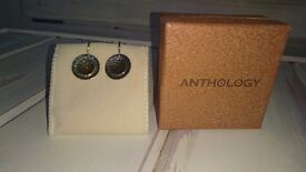 Anthology hammered effect earrings