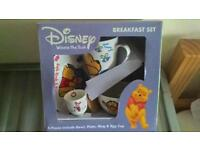DISNEY WINNIE THE POOH AND FRIENDS 4 PIECE BREAKFAST SET BOXED BRAND NEW