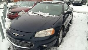 2003 Chrysler Sebring  PROMO$3990, limited en cuir beige, superb