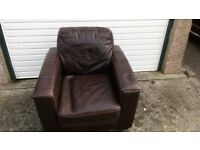 Single Seat Leather Chair £10