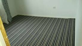 Blue Brown Striped Carpet