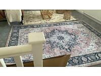 Brand new large pink grey rug
