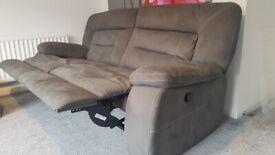 Harveys suede reclining sofa