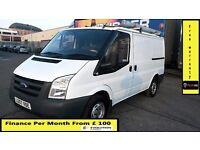 Finance- £95 P/ M- Ford Transit Low Roof SWB Van 2.2 300 -69k -1 Owner- XBt - FSH - 1YR MOT- 260 280