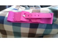 Ladies pink belt