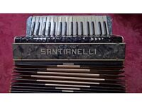 Accordion by Santianelli 80 bass keys and 34 treble used but in good all round condition