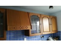 kitchen wall and base cabinet doors /cathedral arch/oak finish