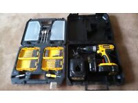 NEW, Dewalt cordless 18 v power tools set, Drill set and mixed bits set. See photos & details