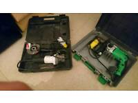 Hitachi impact drill & makita grinder