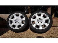 """Genuine 17"""" Mercedes Alloys with good tyres"""