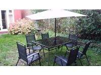 Garden Table with 6 fold-able chairs