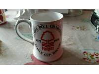 Nottingham forest mug signed rare