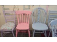 shabby chic retro unique funky mismatched chairs