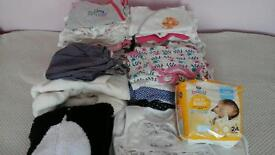 Big bundle of baby girl's clothes up to 3 months