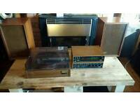 Vintage 1970s Sony Amp, turntable, speakers, tuner separates