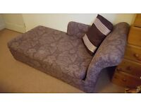 Not only a chaise but also a double metal sofa bed Argos selling for £350 now bargain £160 as new