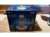 BT Home Phone with 4 hand sets,and answer machine. Delivery available