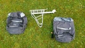 Gabion and satchels for bike