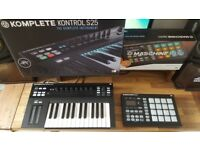Native Instruments Maschine Mikro Mk2 + Kontrol S25 Both MINT! Boxed + Komplete 11 + Vouchers
