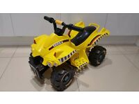 Tonka Yellow Electric Ride-On Quad Bike in excellent as new condition