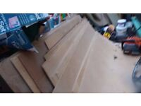 Hardboard sheets 8' x 4' approx used 12 sheets can be used under wooden flooring.
