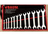 12pc double open ended spanner set