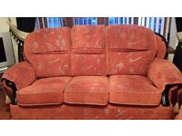 1 or 3 Like New Orange Sofa