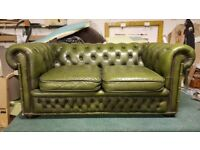 2 SEATER VINTAGE CHESTERFIELD SOFA - NICELY AGED - £350 ONO - FREE DELIVERY