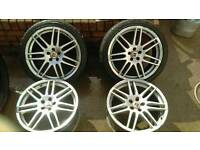 18 inch RS4 alloys