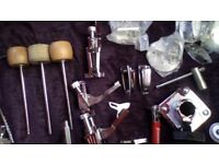 Drum Spares, Ludwig & Tama bits & peices,snare wires, strainers, tom mounts, multi clamps etc