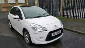 2011 citroen c3 exclusive 1.6 hdi 5dr hatchback white low mileage