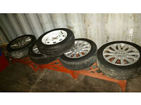 """Rover 25 45 Mg Zr Zs Street Wise,4 x Alloy Wheels WIth Tyres 15"""" 185/55/R15"""