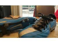 Blue Nike Football Boots