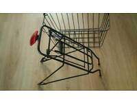 Bicycle rack and basket