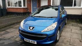 Peugeot 207 1.4 SE Petrol, Blue, 5 Door, 11 Months Mot, 77k Low Miles