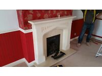 Stone Fireplace with coal effect Gas Fire