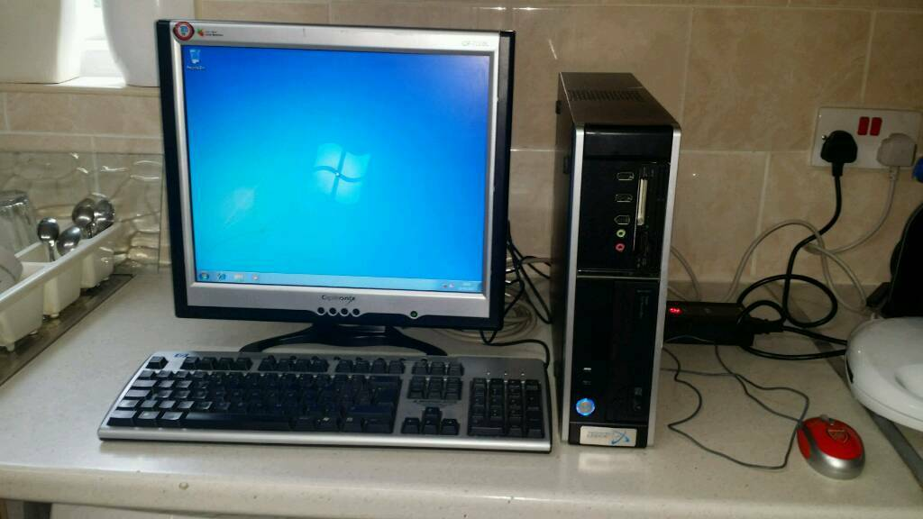 COMPUTER - STONE TOWER COMPLETE SYSTEM 17 INCH TFT + MOUSE + KEYBOARD CORE 2 2GHZ 2GB RAM 80GB