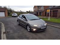 57 REG HONDA CIVIC 2.2 I-CTDI ES 5DR GOLD 1-OWNER MOT-18 GLASS-ROOF OUTSTANDING FREE-DELIVERY CHEAP