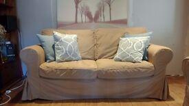Ikea Ektorp 2 seater sofa, beige. Good conditions