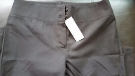 Gear Black straight leg trousers 31 inches, size 14, brand new from Salon Direct