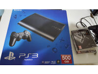SONY PS3 SUPER SLIM 500GB, 2 CONTROLLERS