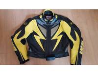 IXS leather and Kevlar 2 piece motorbike suit