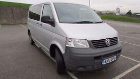 VW TRANSPORTER 2010 1.9TDI WHEELCHAIR ACCESSIBLE WINDOW VAN RAMP DISABLED WAV MPV 8 SEATS 31K FSH