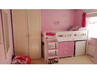 Julian Bowen Kimbo Mid Sleeper Cabin Bed Pink