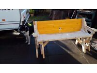 2 in 1 garden picnic bench come seat