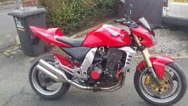 kawasaki zr1000 ash good clean bike