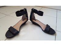 Black Adam Tucker 'Lexa' Wedge Sandals, Size 7