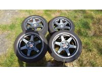 "Wolfrace 17"" JDM wheels"