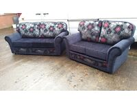 SUFFOLK BUY 3 SEATER £399 GET 2 SEATER FREE !!! HIGH QUALITY HAND MADE FABRIC SOFA BRAND NEW