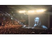 2 seated Adele tickets FANTASTIC LEVEL 1 SEATS